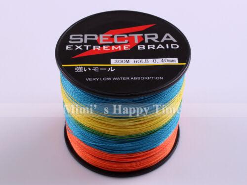 100/% PE Braided Fishing Line 100M 300M 500M 1000M Spectra Dyneema Multicolor NEW
