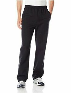 Jerzees-Men-039-s-Adult-Open-Bottom-Sweatpants-Black-Large-Black-Size-Large-aoui