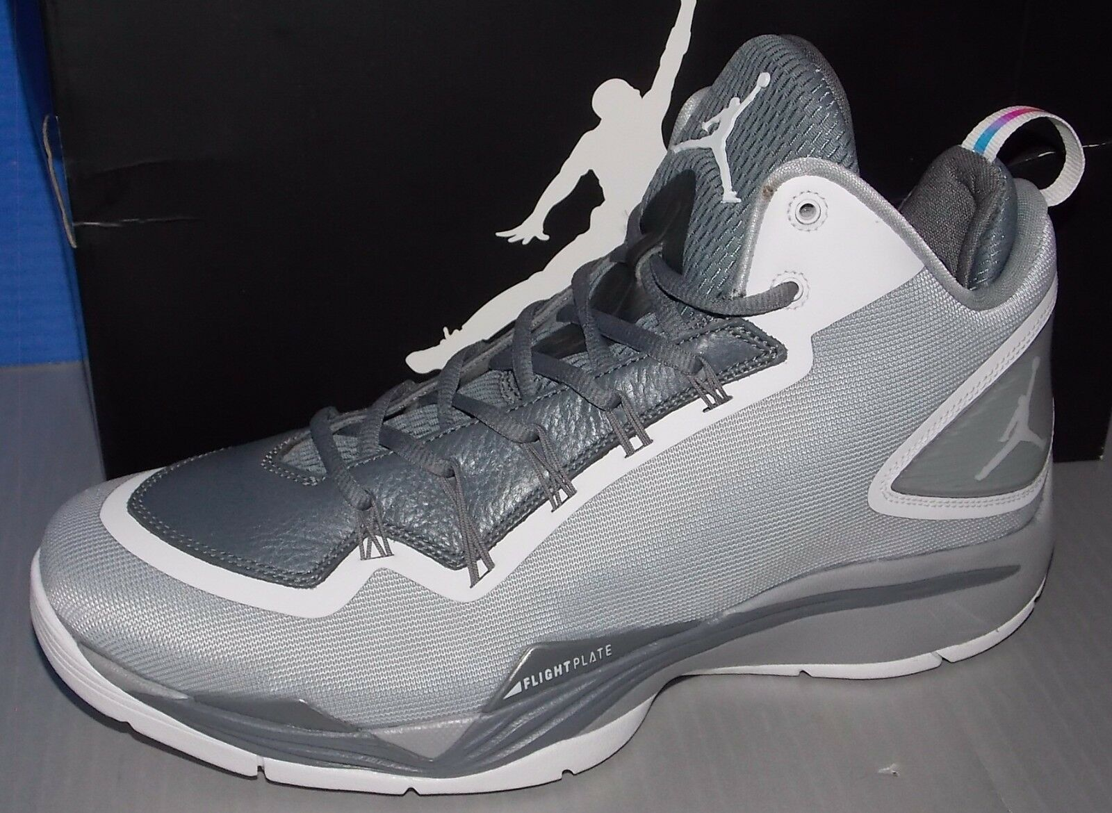 MENS NIKE JORDAN SUPER.FLY 2 PO WOLF GREY / WHITE / COOL GREY SIZE 11.5 best-selling model of the brand