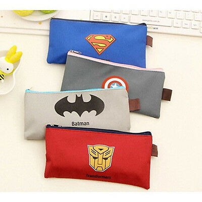 The Avengers Superman Pencil Pen Case Pouch Brush Holder Makeup cloth Bag