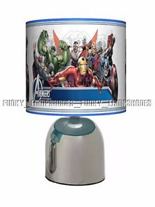 AVENGERS ASSEMBLE ☆ BEDSIDE TOUCH LAMP ☆ BOYS BEDROOM ☆ UK PLUG