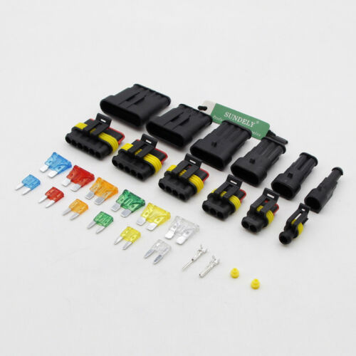 1//2//3//4//5//6Pin Car Wire Way Waterproof Electrical Wire Connector Terminal Fuses