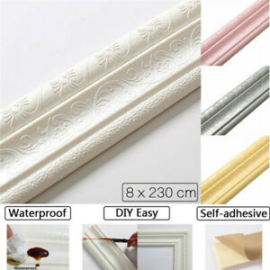 2-3m-Wall-Skirting-Border-3D-Pattern-Sticker-Home-Decor-Self-Adhesive-Waterproof