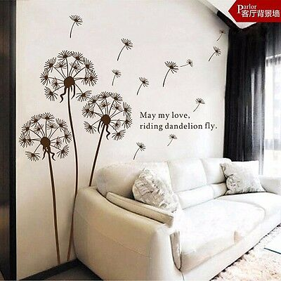 Flying Dandelion Wall Decals Mural Vinyl Sticker for Kids Nursery Room Decor