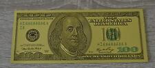 100 Dollar Banknote Geldschein in Gold mit Farbe Goldschein Geschenk selten neu