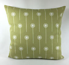 "St Jude's Dandelion Two  - Pale Green  Cushion Cover  - By Angie Lewin 17"" x 17"""