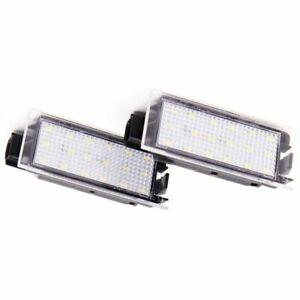 2Pcs-Coche-LED-luz-matricula-numero-para-Renault-Megane-2-CLIO-Laguna-2-Z1G3