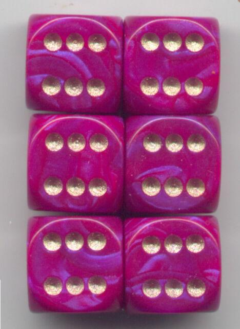 NEW Dice Set of 6 D6 (15mm) - Interferenz Purple