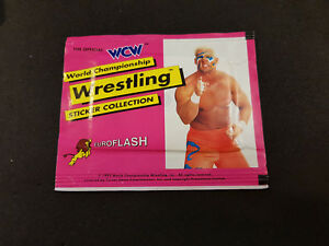 WCW-World-Championship-Wrestling-Stickers-6-Stickers-Euroflash-Sealed