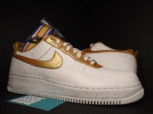 Nike Air Force 1 Low SUPREME I/O TZ THE HERO WHITE METALLIC GOLD 516630-170 12