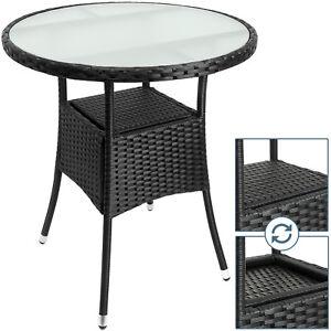 Das Bild Wird Geladen Polyrattan Tisch Rattan Gartentisch Terrasse Moebel  Garten Beistelltisch
