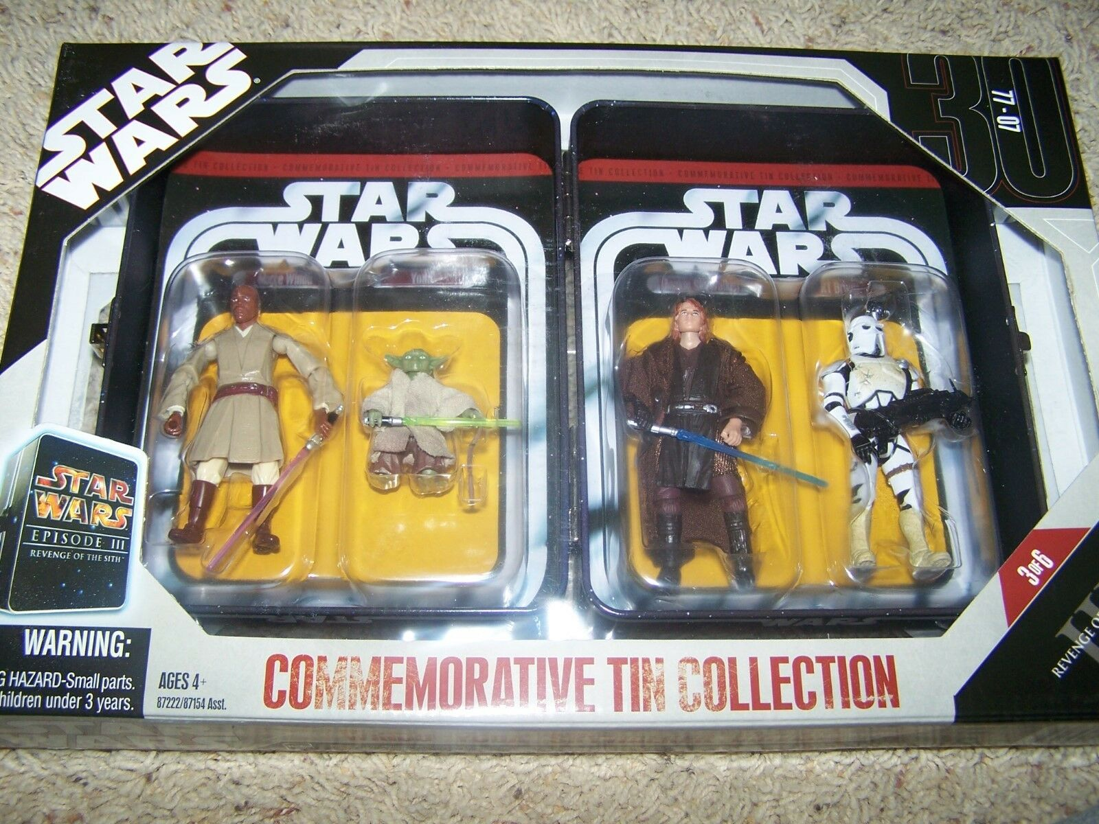 Star Wars Commemorative Tin Collection Revenge of the Sith 3.75  figure set