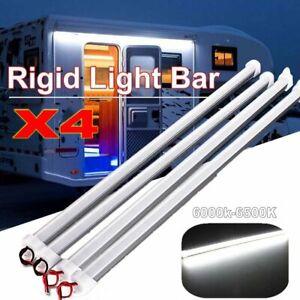 4Pcs-12V-Waterproof-5630-White-Led-Strip-Lights-Bars-Camping-Car-Caravan-6500K
