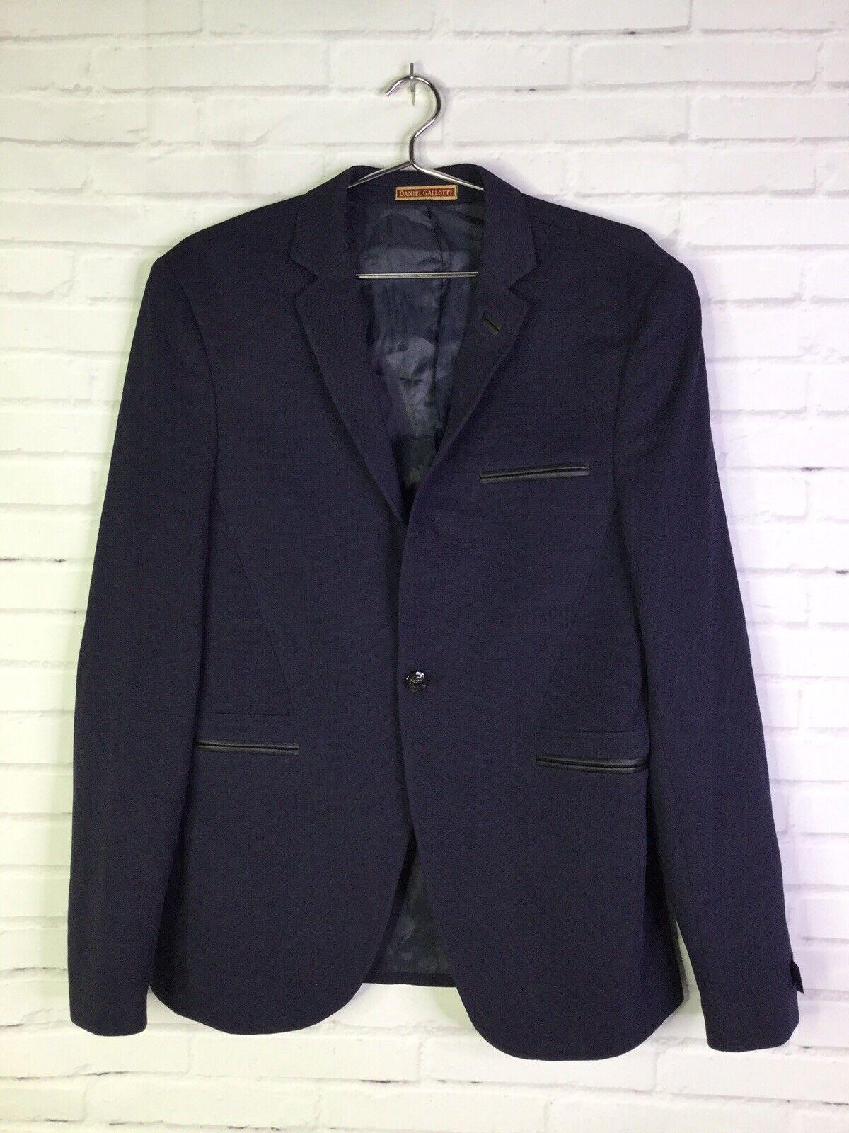 Navy Blue Solid Formal Blazer
