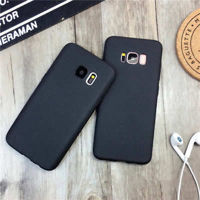 For Samsung Galaxy S6 S7 S8 Luxury Rubber Soft Phone Case Matte Slim Back Cover