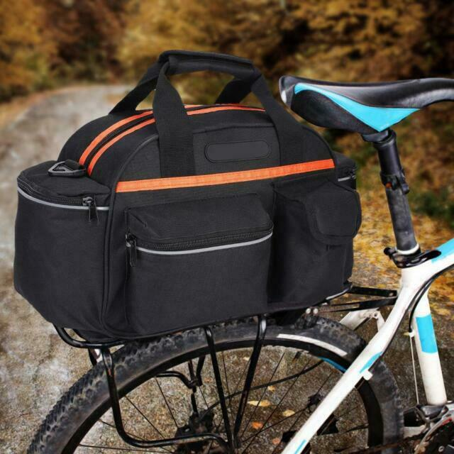 Cycling Bike Bicycle Rear Tail Seat Pannier Bag Pouch Rack Trunk Shoulder Travel