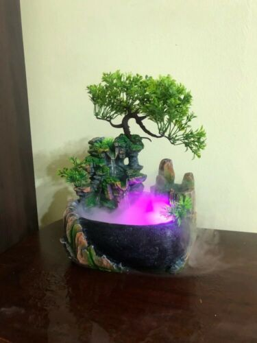 Waterfall Fountain Creative Indoor Simulation Resin Rockery Fake Tree Feng Shui