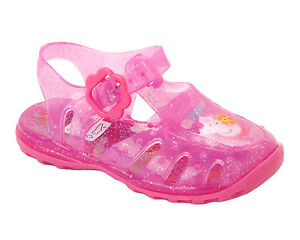 995d8027f7c6 GIRLS PEPPA PIG PINK SUMMER BEACH WATER JELLY SANDALS SHOES INFANTS ...