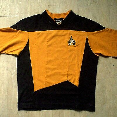 Abile Star Trek Jerry Leigh 1991-long Sleeve T Shirt- Orange & Black Medium Size Rafforza Tendini E Ossa