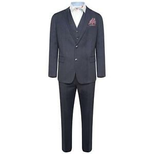 Blue Brown Fit Harry Suit In Piece Slim 3 Check Pxw76paq