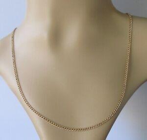 9ct Cadena De Oro-Vintage cadenilla de oro amarillo de 9ct (19 1/2 Pulgadas)