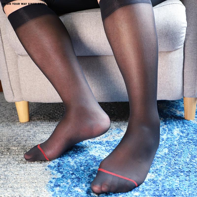 2/4/6pack Herren Ultradünn Kunstseide Durchsichtig Kleid Socken Business Crew