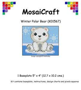 MosaiCraft-Pixel-Craft-Mosaic-Art-Kit-039-Winter-Polar-Bear-039-Pixelhobby