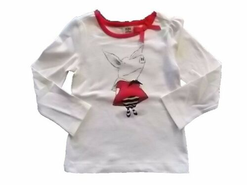 NWT Girl/'s Gymboree Olivia pig ivory long sleeve shirt ~ 2T 3T FREE SHIPPING!