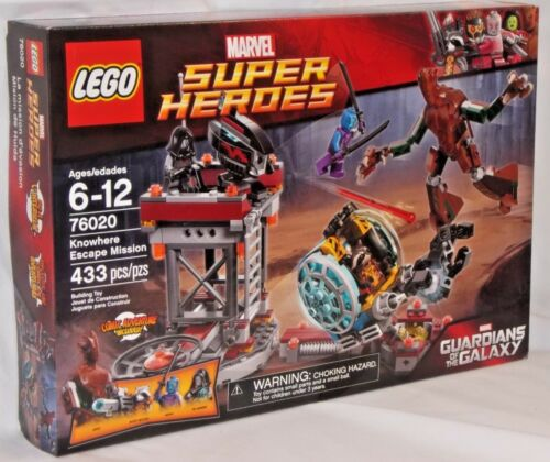 SEALED 76020 LEGO Marvel Super Heroes KNOWHERE ESCAPE MISSION Groot Rocket 433pc