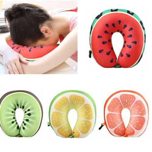 Pillow Cushion Neck Support Headrest Memory U Shaped Cartoon Fruit Travel~V