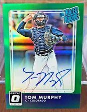 Tom Murphy 2016 Donruss Optic GREEN Holo Refractor RC on-card Auto #'d 1/5