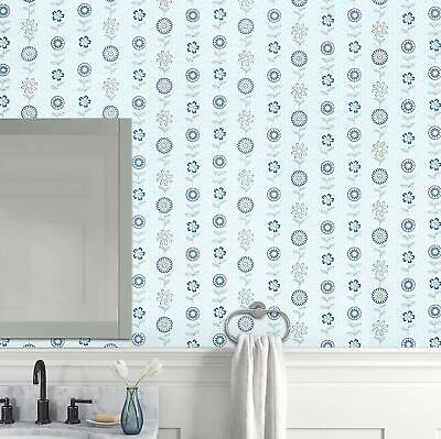 Peel And Stick Light Blue Flower Contact Paper Self Adhesive Removable Wallpaper Ebay