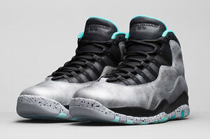 NIKE JORDAN 10 RETRO X 30TH SZ 10 LADY LIBERTY DUST METALLIC BLCK 705178-045