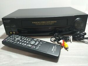 Sharp-VC-H812U-VCR-Player-Recorder-with-Factory-Remote-and-Cables-TESTED-100