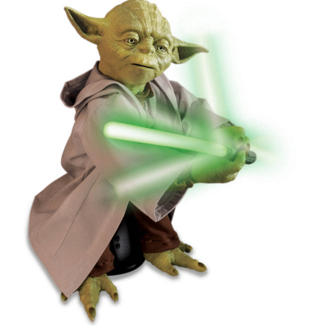 Star Wars Legendary Jedi Master Yoda Voice Recognition Recognition Recognition Train Collectible Classic 4570aa
