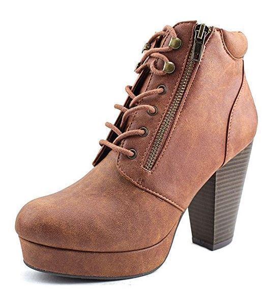 Material Girl Girl Girl Mujer botas al tobillo de moda puntera cerrada Rheta, coñac, tamaño 11.0  tienda hace compras y ventas