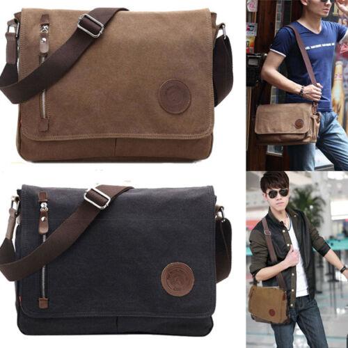 Men/'s Vintage Canvas Schoolbag Satchel Shoulder Messenger Bag Laptop Bags New
