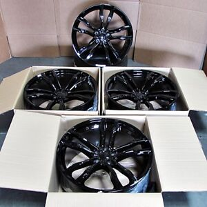 Details About Fits Bmw X5 X6 X5m X6m Gloss Black Rims 22 612 Style Staggered Wheels