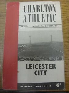 02101962 Charlton Athletic v Leicester City Football League Cup folded mar - <span itemprop=availableAtOrFrom>Birmingham, United Kingdom</span> - Returns accepted within 30 days after the item is delivered, if goods not as described. Buyer assumes responibilty for return proof of postage and costs. Most purchases from business s - Birmingham, United Kingdom