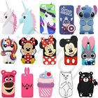 3D Disney Cartoon Silicone Gel Cover Case Skin For iPhone 4/5/6 Huawei P8/P9Lite
