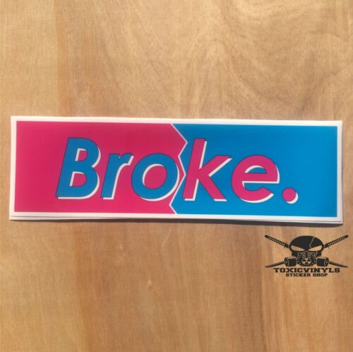 Broke SLAP STICKER jdm static stance drift jap car sticker decal