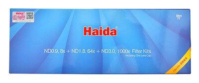 Haida SLIM 77mm Neutral Density 0.9, 1.8 & 3.0 (3, 6 & 10 Stop) Filter Pack WIDE