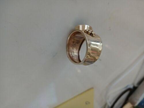 Black Opal designer Solid 14k Wide Band Black Opal
