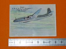 CHROMO BISCOTTES LUC 1952 AVIATION FRANCE S.N.C.A.S.E. ARMAGNAC TRANSPORT