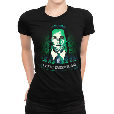 Heartless Addams Family I Hate Wednesdays Tee Punk Goth Cotton Top T-shirt