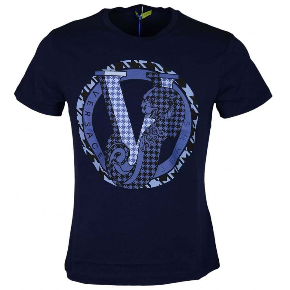 Versace Jeans Jersey Stretch Callisto Slim Fit bluee T-Shirt