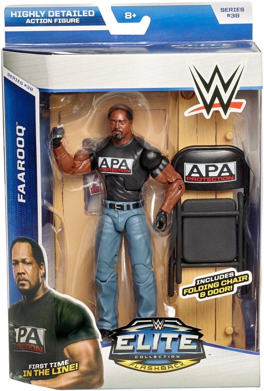 WWE MATTEL ELITE  SERIES 38 38 38 FAAROOQ APA WRESTLING FIGURE FAROOQ cdc