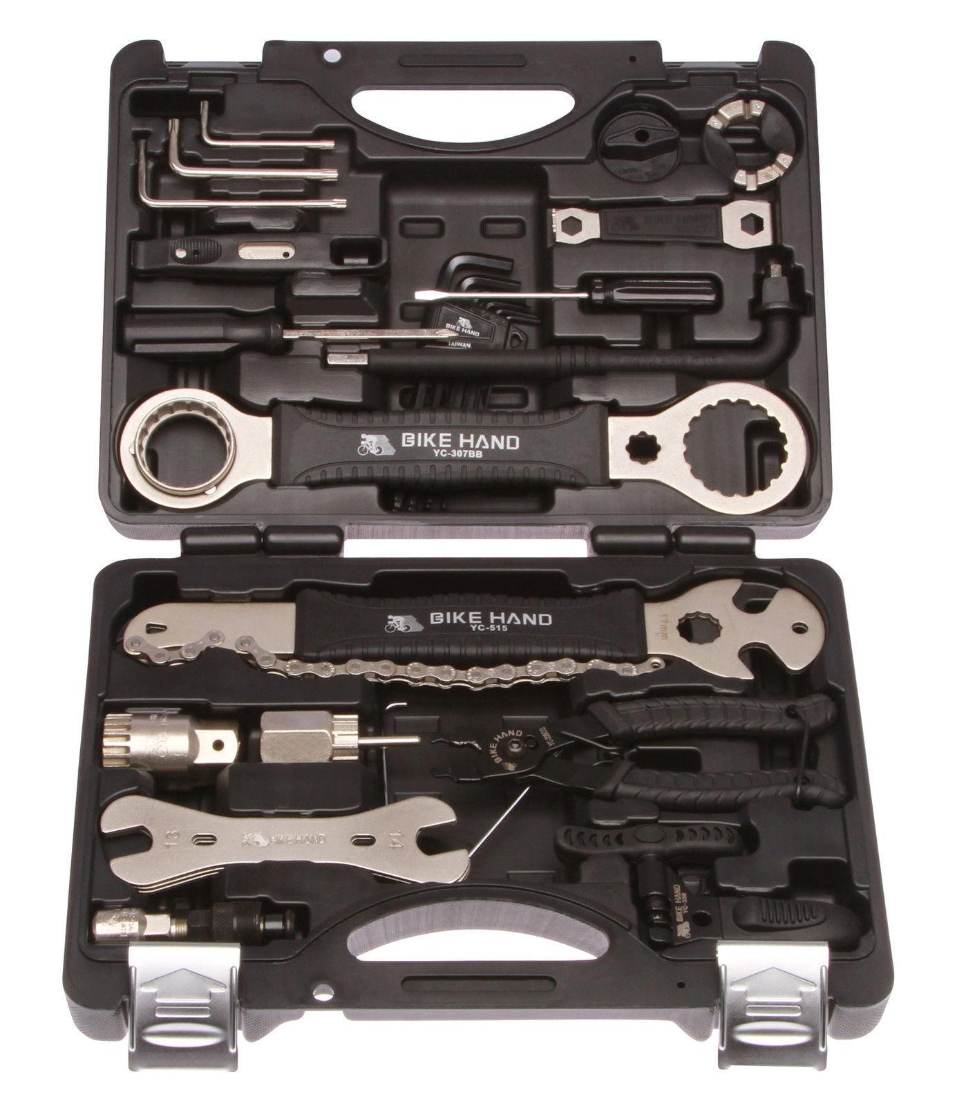 Profi Fahrrad Fahrrad Fahrrad Werkzeug Koffer Reparatur Service Rad Werkzeugkoffer Shimano use d95c8e