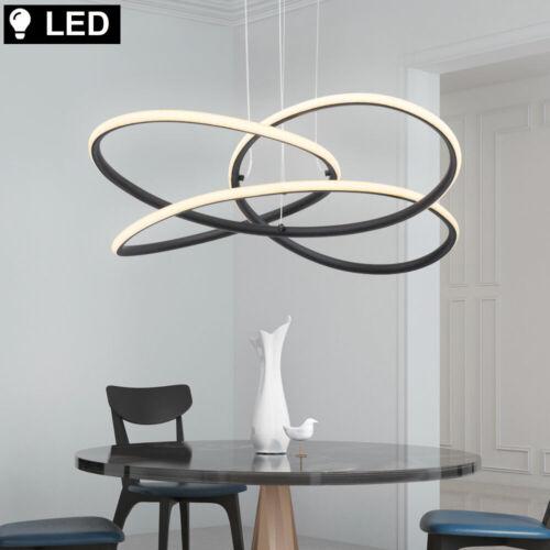 LED Hänge Pendel Lampe dimmbar Decken Leuchte opal Metall Ess Zimmer Beleuchtung