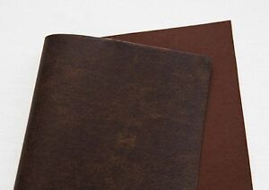Vintage brown faux leather felt fabric sheet diy craft for Leather sheets for crafting